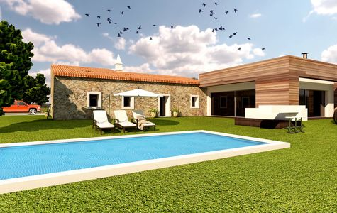 2+1 BEDROOMS VILLA WITH EXPANSION PROJECT IN ALBUFEIRA